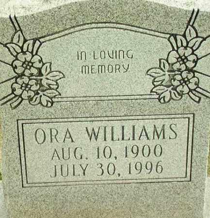 WILLIAMS, ORA - Lincoln County, Arkansas   ORA WILLIAMS - Arkansas Gravestone Photos