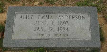 ANDERSON, ALICE EMMA - Little River County, Arkansas | ALICE EMMA ANDERSON - Arkansas Gravestone Photos