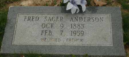 ANDERSON, FRED SAGER - Little River County, Arkansas | FRED SAGER ANDERSON - Arkansas Gravestone Photos