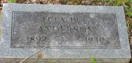 ANDERSON, LULA DUE - Little River County, Arkansas | LULA DUE ANDERSON - Arkansas Gravestone Photos