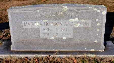 HOPSON ANDERSON, MARTHA - Little River County, Arkansas | MARTHA HOPSON ANDERSON - Arkansas Gravestone Photos
