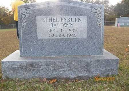 PYBURN BALDWIN, ETHEL - Little River County, Arkansas | ETHEL PYBURN BALDWIN - Arkansas Gravestone Photos