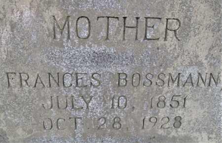 BOSSMAN, FRANCES - Little River County, Arkansas | FRANCES BOSSMAN - Arkansas Gravestone Photos