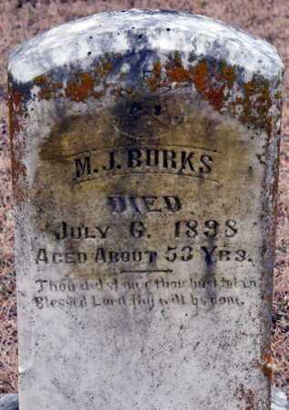 BURKS, M J - Little River County, Arkansas   M J BURKS - Arkansas Gravestone Photos