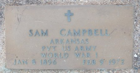 CAMPBELL (VETERAN WWI), SAM - Little River County, Arkansas   SAM CAMPBELL (VETERAN WWI) - Arkansas Gravestone Photos