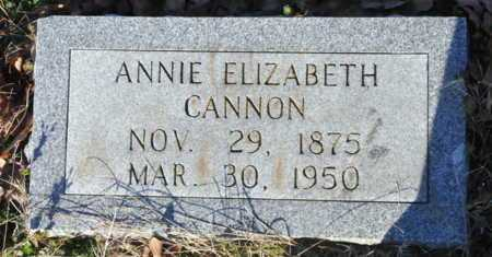 CANNON, ANNIE ELIZABETH - Little River County, Arkansas   ANNIE ELIZABETH CANNON - Arkansas Gravestone Photos