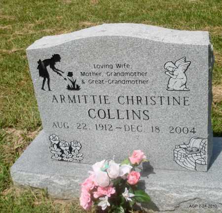 COLLINS, ARMITTIE CHRISTINE - Little River County, Arkansas | ARMITTIE CHRISTINE COLLINS - Arkansas Gravestone Photos