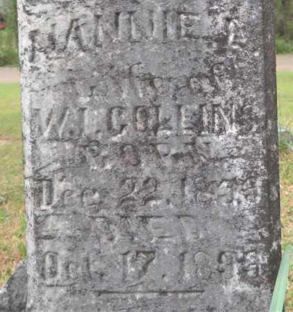 HOLMAN COLLINS, NANNIE L (CLOSE UP) - Little River County, Arkansas | NANNIE L (CLOSE UP) HOLMAN COLLINS - Arkansas Gravestone Photos