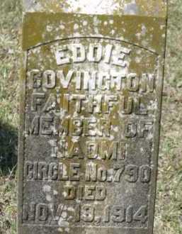 COVINGTON, EDDIE (CLOSE UP) - Little River County, Arkansas | EDDIE (CLOSE UP) COVINGTON - Arkansas Gravestone Photos