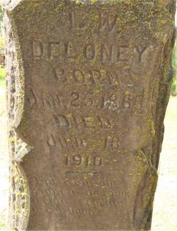DELONEY, L W (CLOSE UP) - Little River County, Arkansas   L W (CLOSE UP) DELONEY - Arkansas Gravestone Photos