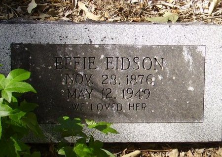 EIDSON, EFFIE - Little River County, Arkansas | EFFIE EIDSON - Arkansas Gravestone Photos