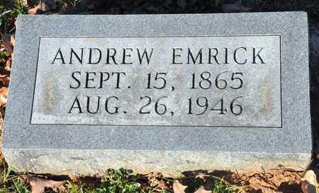 EMRICK, ANDREW - Little River County, Arkansas | ANDREW EMRICK - Arkansas Gravestone Photos