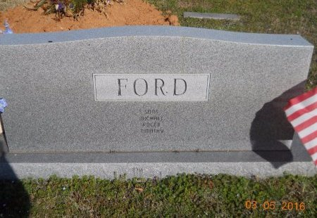 FORD, J D (BACK VIEW) - Little River County, Arkansas   J D (BACK VIEW) FORD - Arkansas Gravestone Photos