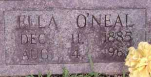 O'NEAL HILL, ELLA (CLOSE UP) - Little River County, Arkansas   ELLA (CLOSE UP) O'NEAL HILL - Arkansas Gravestone Photos
