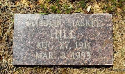 HILL, GORDAN HASKEL - Little River County, Arkansas   GORDAN HASKEL HILL - Arkansas Gravestone Photos