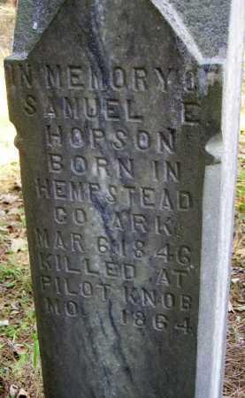 HOPSON (VETERAN CSA KIA), SAMUEL E - Little River County, Arkansas | SAMUEL E HOPSON (VETERAN CSA KIA) - Arkansas Gravestone Photos