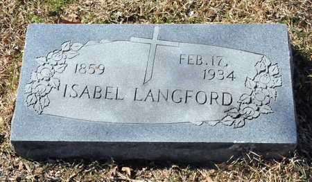 LANGFORD, ISABEL - Little River County, Arkansas | ISABEL LANGFORD - Arkansas Gravestone Photos