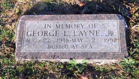 LAYNE JR (VETERAN), GEORGE L - Little River County, Arkansas | GEORGE L LAYNE JR (VETERAN) - Arkansas Gravestone Photos