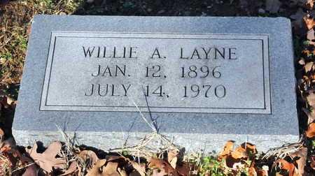 LAYNE, WILLIE A - Little River County, Arkansas   WILLIE A LAYNE - Arkansas Gravestone Photos