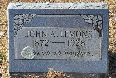 LEMONS, JOHN A - Little River County, Arkansas   JOHN A LEMONS - Arkansas Gravestone Photos