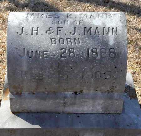 MANN, JAMES K - Little River County, Arkansas   JAMES K MANN - Arkansas Gravestone Photos