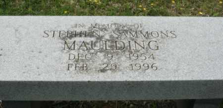 MAULDING, STEPHEN SAMMONS - Little River County, Arkansas | STEPHEN SAMMONS MAULDING - Arkansas Gravestone Photos