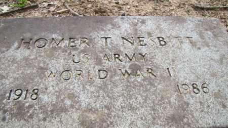 NESBITT (VETERAN WWII), HOMER T - Little River County, Arkansas | HOMER T NESBITT (VETERAN WWII) - Arkansas Gravestone Photos