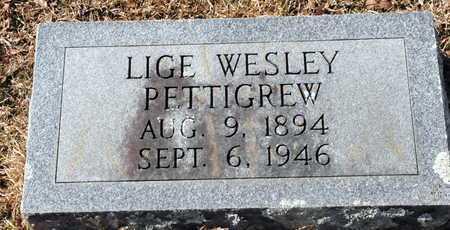 PETTIGREW, LIGE WESLEY - Little River County, Arkansas | LIGE WESLEY PETTIGREW - Arkansas Gravestone Photos