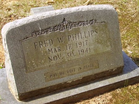 PHILLIPS, FRED W - Little River County, Arkansas | FRED W PHILLIPS - Arkansas Gravestone Photos