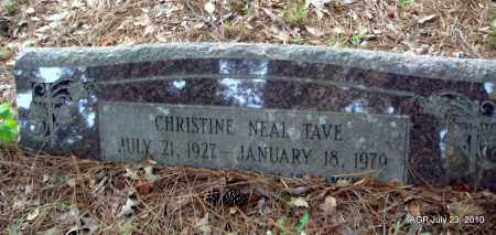NEAL TAVE, CHRISTINE - Little River County, Arkansas   CHRISTINE NEAL TAVE - Arkansas Gravestone Photos