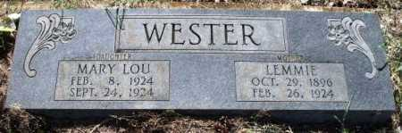 WESTER, LEMMIE - Little River County, Arkansas | LEMMIE WESTER - Arkansas Gravestone Photos