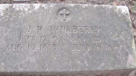 WIMBERLY (VETERAN CSA), J. P. - Little River County, Arkansas | J. P. WIMBERLY (VETERAN CSA) - Arkansas Gravestone Photos