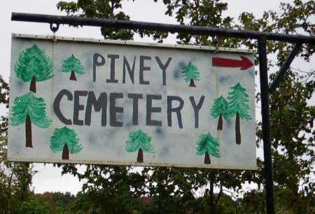 *PINEY CEMETERY SIGN,  - Little River County, Arkansas |  *PINEY CEMETERY SIGN - Arkansas Gravestone Photos