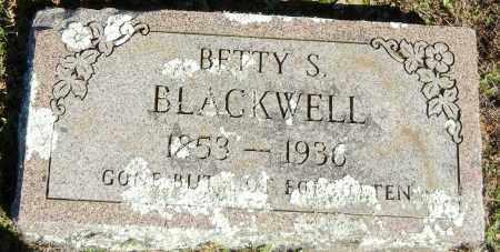 BLACKWELL, BETTY S - Logan County, Arkansas | BETTY S BLACKWELL - Arkansas Gravestone Photos