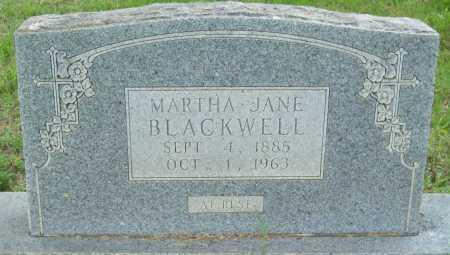 BLACKWELL, MARTHA JANE - Logan County, Arkansas   MARTHA JANE BLACKWELL - Arkansas Gravestone Photos