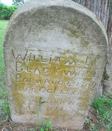 BLACKWELL, WILLIAM L - Logan County, Arkansas   WILLIAM L BLACKWELL - Arkansas Gravestone Photos