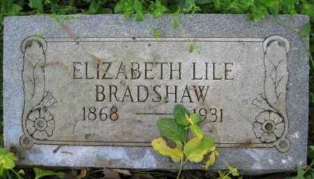 LILE BRADSHAW, ELIZABETH - Logan County, Arkansas | ELIZABETH LILE BRADSHAW - Arkansas Gravestone Photos