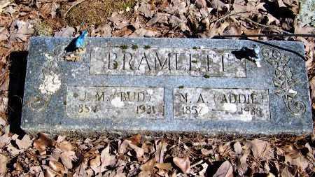 "BRAMLETT, JAMES MONROE ""BUD"" - Logan County, Arkansas | JAMES MONROE ""BUD"" BRAMLETT - Arkansas Gravestone Photos"