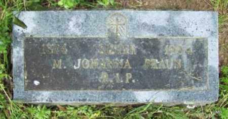 BRAUN, SISTER M JOHANNA - Logan County, Arkansas   SISTER M JOHANNA BRAUN - Arkansas Gravestone Photos