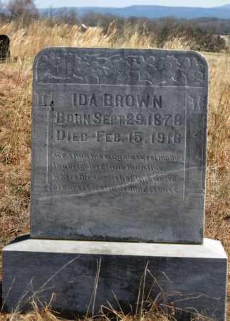 BROWN, IDA - Logan County, Arkansas | IDA BROWN - Arkansas Gravestone Photos