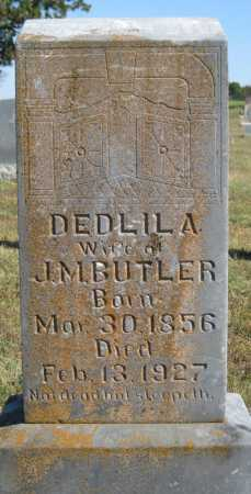 BUTLER, DEDLILA - Logan County, Arkansas | DEDLILA BUTLER - Arkansas Gravestone Photos