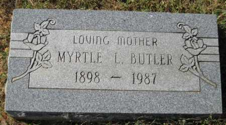 BUTLER, MYRTLE L. - Logan County, Arkansas | MYRTLE L. BUTLER - Arkansas Gravestone Photos