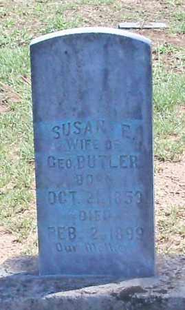 BUTLER, SUSAN E - Logan County, Arkansas   SUSAN E BUTLER - Arkansas Gravestone Photos