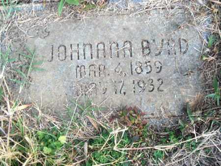 BYRD, JOHNANNA - Logan County, Arkansas | JOHNANNA BYRD - Arkansas Gravestone Photos