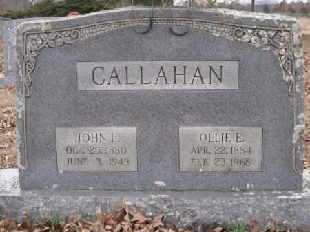 CALLAHAN, JOHN L - Logan County, Arkansas | JOHN L CALLAHAN - Arkansas Gravestone Photos