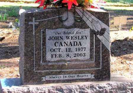 CANADA, JOHN WESLEY - Logan County, Arkansas   JOHN WESLEY CANADA - Arkansas Gravestone Photos