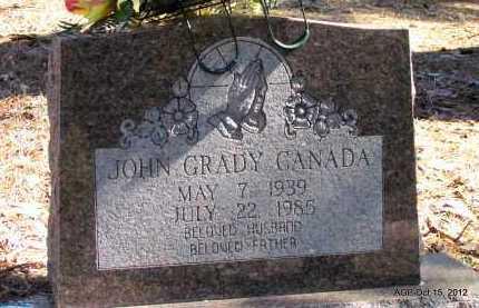 CANADA, JOHN GRADY - Logan County, Arkansas   JOHN GRADY CANADA - Arkansas Gravestone Photos