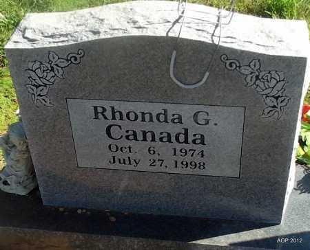 CANADA, RHONDA G - Logan County, Arkansas | RHONDA G CANADA - Arkansas Gravestone Photos