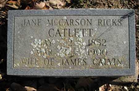 CATLETT, JANE - Logan County, Arkansas | JANE CATLETT - Arkansas Gravestone Photos
