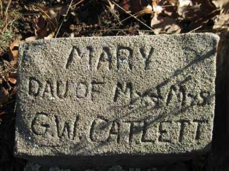 CATLETT, MARY - Logan County, Arkansas | MARY CATLETT - Arkansas Gravestone Photos